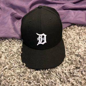 B&W Detroit Tigers D New Era 59Fifty Fitted Cap